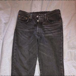 Levi's mid rise 501 jeans